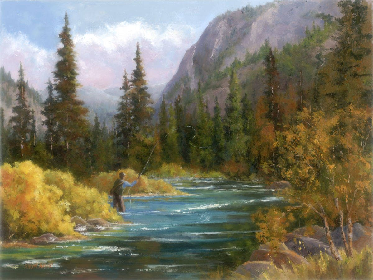 October in the canyon sheryl knightsheryl knight fine art for Kings river fishing