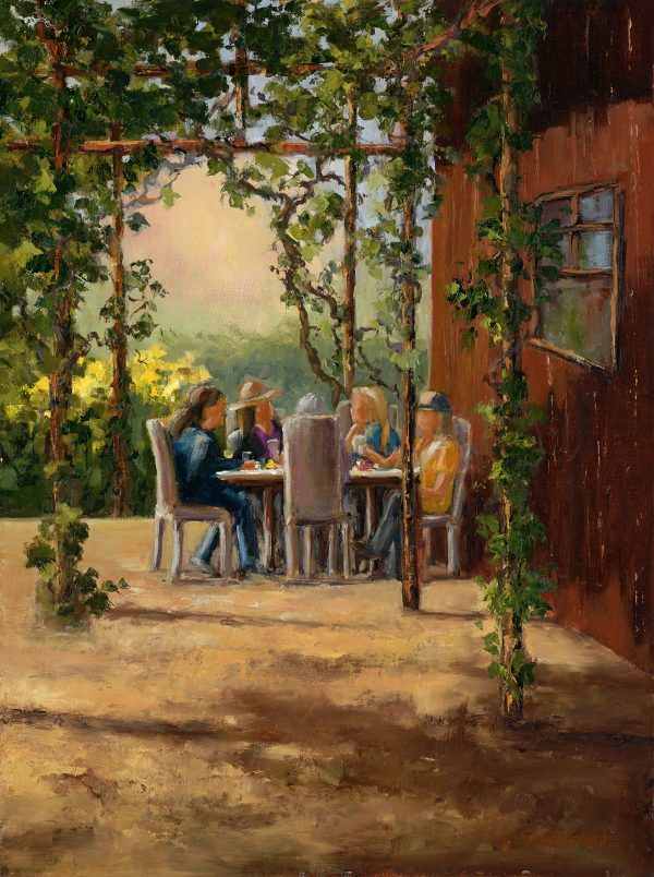 Lunch on the Patio – Sheryl Knight 16 x 12